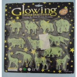 72 Units of Glow in the Dark Zoo Animals - Animals & Reptiles