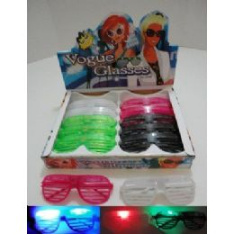 288 Units of Light Up Window Shade Glasses - Novelty & Party Sunglasses