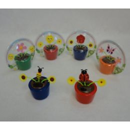 60 Units of Solar Powered Dancing Flowers & Bug Assortment - Garden Decor