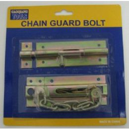 96 Units of 2pc Chain and Slide Guard Bolts - Padlocks and Combination Locks