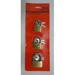 24 Units of 3pcs Small Padlock - Padlocks and Combination Locks
