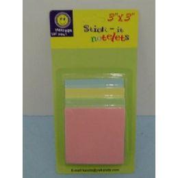 """36 Units of 3""""x3"""" 4pk Sticky Notes - Sticky Note & Notepads"""