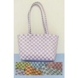 72 Units of Handmade Woven HandbaG-2 Color - Leather Purses and Handbags