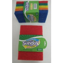 100 Units of 10pk Colored Scrubbers - SCOURING PADS,SCRUBBERS,SPONGE