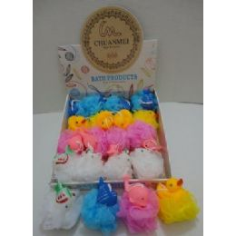 120 Units of Bath Sponge With Squeaky Water Toy - Bath And Body