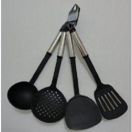 72 Units of 4pc Black Kitchen Utensils - Kitchen Utensils