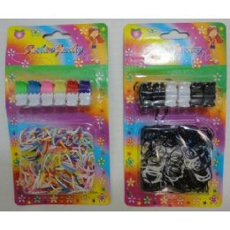 144 Units of 12pc Mini Claw Clip & Hair Elastic Combo - Hair Accessories