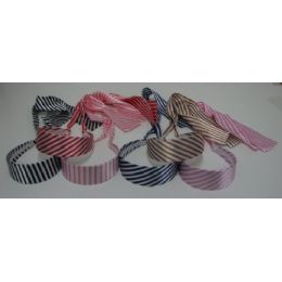 72 Units of Headband Scarves-Stripes - Headbands