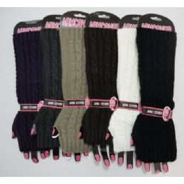 120 Units of Arm Warmers-Solid Color Knit - Arm & Leg Warmers