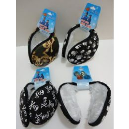 144 Units of Earmuffs With Fur InsidE--Skulls - Ear Warmers