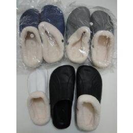 36 Units of Mens Fleece Lined Garden Shoes - Men's Slippers