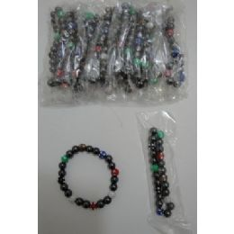 "72 Units of 7"" Magnetic BraceleT-Round Sparkle Beads - Bracelets"