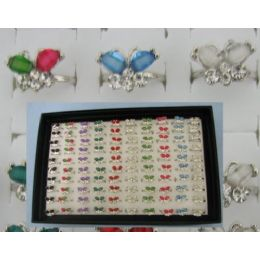 300 Units of Adjustable Ring-2 Wing Butterfly with 4 Stones - Rings