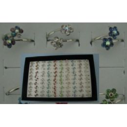 200 Units of Adjustable Ring-Wrap Around Flowers - Rings