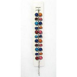 72 Units of BraceleT-Multicolor Round & Teardrop Stones - Bracelets