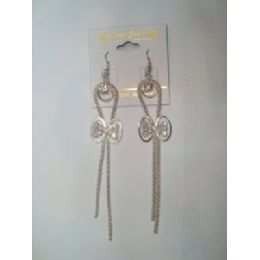 72 Units of EarringS-Dangle With Bow Tie Charm - Earrings