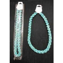 72 Units of NecklacE-Turquoise 3pt Beads - Necklace