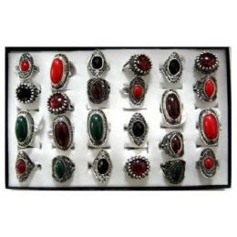 216 Units of Rings-Red/Green/Brown Stone - Rings