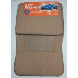 6 Units of 4pc Car Mats-Tan - Auto Sunshades and Mats