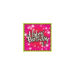 288 Units of Birthday Love Beverage Napkins - 16ct. - Party Paper Goods