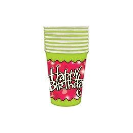 144 Units of Birthday Love Cups - 8 CT. - Party Paper Goods