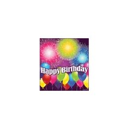 288 Units of Birthday Blast Beverage Napkins - 16ct. - Party Paper Goods