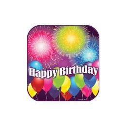 """144 Units of Birthday Blast 9"""" Plate - 8ct. - Party Paper Goods"""