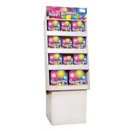 Birthday Blast PrE-Packed Floor Shipper, 156 Ct. - Party Paper Goods