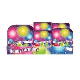 Birthday Blast Pre-Packed Counter Shipper, 96 Ct. - Party Paper Goods