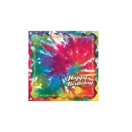 144 Units of Happy Birthday Tie Dye Luncheon Napkins - 16ct. - Party Paper Goods