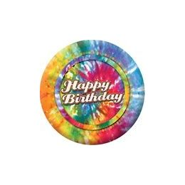 """72 Units of Happy Birthday Tie Dye 9"""" Plate - 8ct. - Party Paper Goods"""