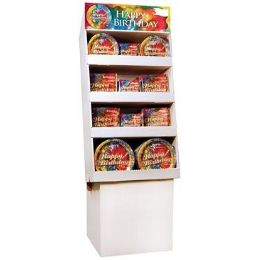 Happy Birthday Tie Dye Pre-Packed Floor Shipper, 156 Ct. - Party Tableware
