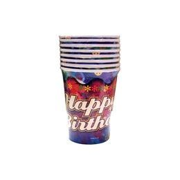 24 Units of Happy Birthday Tie Dye Cups - 8 CT - Party Paper Goods
