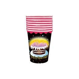 48 Units of You're How Old Cups - 8 CT. - Party Paper Goods