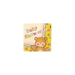 144 Units of Baby Shower Beverage Napkins - 16 Ct. - Party Paper Goods