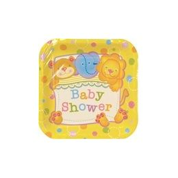 """72 Units of Baby Shower 7"""" Plate - 8ct. - Party Paper Goods"""
