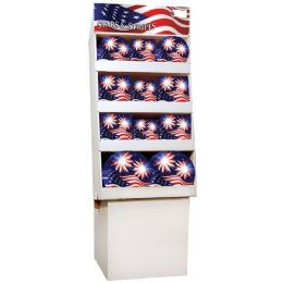 Stars & Stripes Pre-Packed Floor Shipper, 156 Ct.
