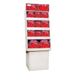 Hearts Pre-Packed Floor Shipper, 156 Ct. - Party Tableware
