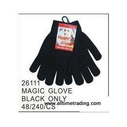 120 Units of Black Magic Glove - Knitted Stretch Gloves