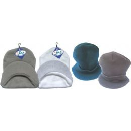 144 Units of Black Winter Hat With Visor - Winter Beanie Hats