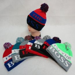 48 Units of Hand Knitted Fashion Hat & Scarf Set--2 Flowers - Winter Sets Scarves , Hats & Gloves