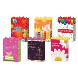 "288 Units of Happy Birthday 6 Asst. Medium 7"" x 9"" x 3.75"" - Gift Bags Assorted"