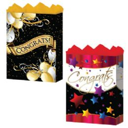 288 Units of Gift-Bag Medium Gls Congrats 3 Styles - Gift Bags Assorted