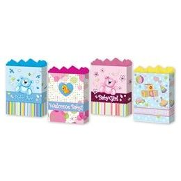 "288 Units of Baby Assortment 4 Asst. Medium 7"" X 9"" X 3.75"" - Gift Bags Baby"