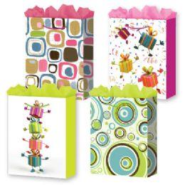 72 Units of Gift-Bag XJumbo Girls Everyday 4 Styles - Gift Bags Everyday