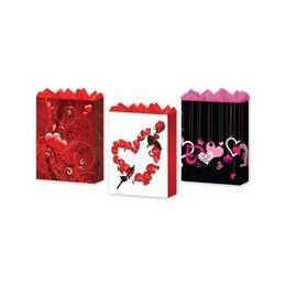 """288 Units of Love 3 Asst. Medium 7"""" X 9"""" X 3.75"""" - Gift Bags Assorted"""