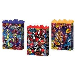 "144 Units of Tattoo 3 Asst. Large 10.25"" x 12.75"" x 5"" - Gift Bags Everyday"