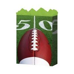 "288 Units of Football Medium 7"" x 9"" x 3.75"" - Gift Bags Everyday"