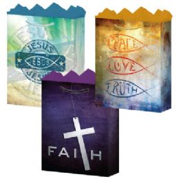 "144 Units of Faith 3 Asst. Large 10.25"" x 12.75"" x 5"" - Gift Bags Assorted"