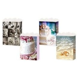 288 Units of Gift-Bag Medium Gls Wedding 3 Styles - Gift Bags Assorted